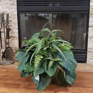 Beautiful artificial house plant